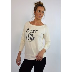 Paint The Town - Cream Sweatshirt