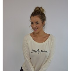 Say My Name - Cream Sweatshirt