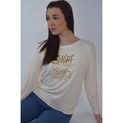 Sweat Sweat Sweat Sweetie - Cream Sweatshirt